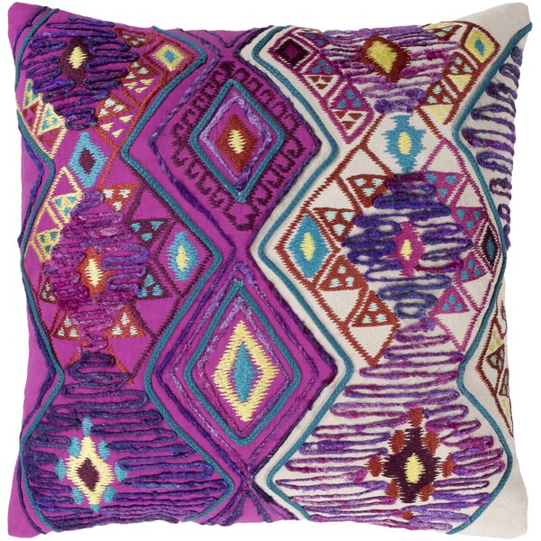 Gauge 100% Cotton Throw Pillow by Bungalow Rose